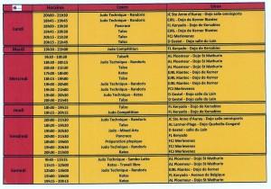 Tableau horaires DPL